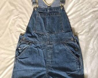 Vintage Gap Shortalls (Shorts Overalls) - Size Large