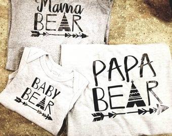 Family Bear Tshirts