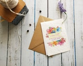 Planting mothers, MOM, seeded, paper gift card with seeds
