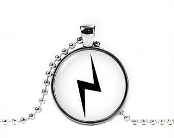 Lightning Bolt Necklace Harry Fan Scar Pendant Fandom Jewelry Fangirl Fanboy Cosplay