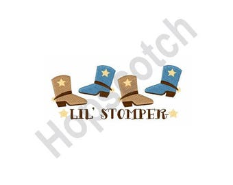 Lil Stomper - Machine Embroidery Design, Cowboy Boots