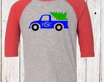Monogram Christmas Truck