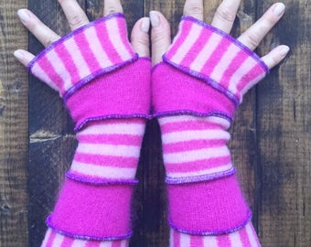Fingerless Gloves -Made from Recycled Sweaters