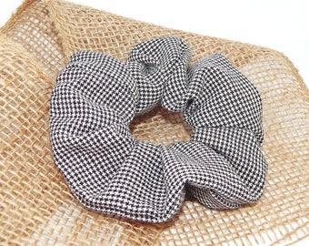 Hair scrunchies, hair, Charles prince of Wales check scrunchie, scrunchies, accessory, women hair, cabbage, scrunchie pattern