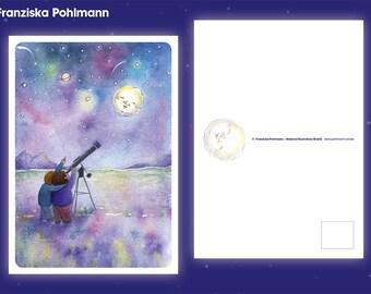 "Postcard ""Starry sky"""