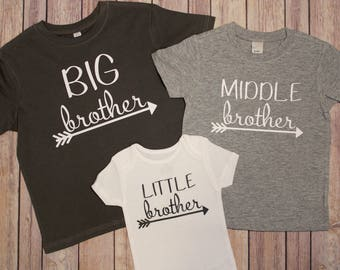 Big brother shirt, Middle Brother shirt, Little brother shirt, New Baby Shirt, big sister shirt, little sister shirt, big brother shirt,