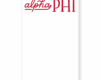 ALPHA PHI Hand-Lettered Notepad