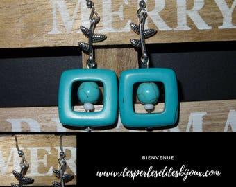 Square Blue earrings