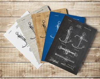 Vintage Anchor Print, Nautical Wall Art, Sail Wall Art, Anchor Poster, Boat Anchor Print, Boat Anchor Design, Sailing Gift, INSTANT DOWNLOAD