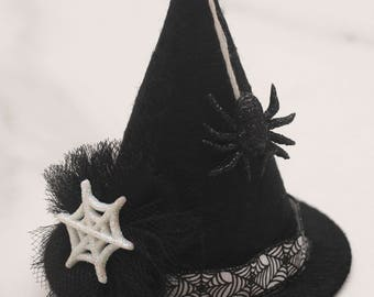 Mini Witch Hat Hair Clip, Mini Witch Hat Headband, Halloween Witch Hat