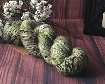 Hand Dyed Yarn, Sock Yarn, Indie Dyed Yarn, Merino Wool Yarn - Outlander Inspired Lallybroch on Tweed Sock