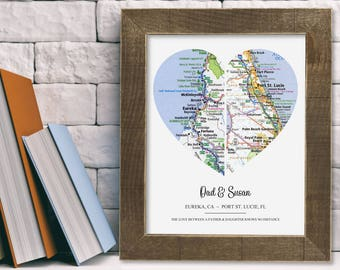 Personalized Dad from Daughter from Son Gift Birthday Wall Art Wedding Christmas Father's Day Valentine's Unique Custom Present Kids Decor