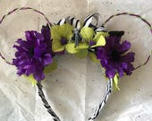 Jack Skellington Themed Floral and Wire Mouse Ears