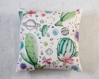 Cactus Pillow Cover, Cactus Throw Pillow, Decorative Pillow Cover, Cushion Cover, Christmas Gift Idea