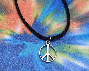 Peace sign choker or necklace