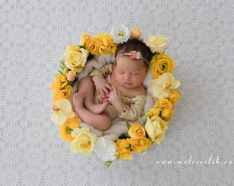 Newborn Girl Digital Background Backdrop