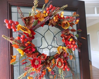 Fall Wreaths for Front Door-Fall Wreath-Harvest Wreaths-Autumn Wreath-Thanksgiving Wreath-Fall Door Decor-Fall Door Wreaths-Front Door