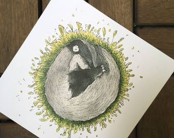 Sleep tight - Badger - post card 14, 8 x 14, 8 cm, 300 g