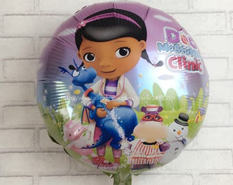 2017 new  5pcs / lot McStuffins Doctor Helium Balloon Kids Birthday Party Decoration Toys Children Mylar Balloons