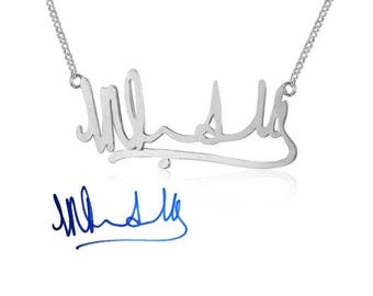 925 Silver handwritten / signature chain