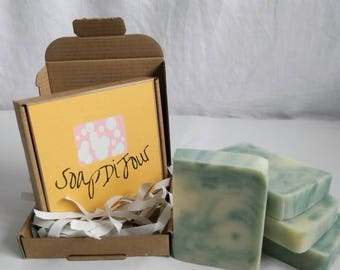 Tea tree and peppermint invigorating and uplifting cold process soap 100g