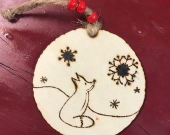 Tree ornament- fox in snow