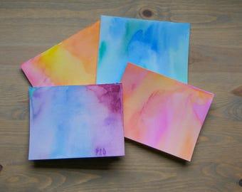 10 Handmade Blank Watercolor Cards