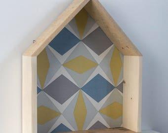 Wood shelf shaped House