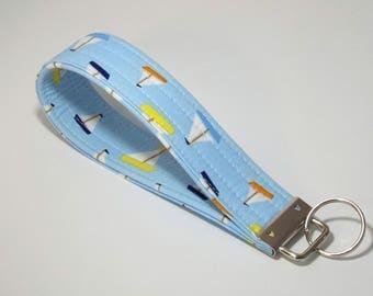 Nautical Wristlet, Cute Keychains, Key Fob Wristlet, Summer Wristlet, Summer Keychain, Key Chain, Wristlet Keychain, Gift for Her, Key Ring