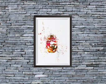 Ladybug Ladybird Watercolor Print - Watercolor Painting  - Art Illustration - Wall Art - Home Decor