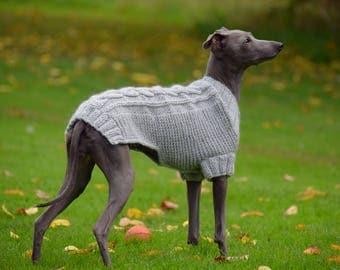 Italian Greyhound sweater - Light Blue | Angora Wool Sweater | Italian Greyhound Clothing | Iggy clothing| Italian Greyhound Sweater