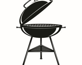 BBQ Grill #2 Grilling Barbecuing Barbecue Cooking Cook Out Chef Food Kitchen Restaurant Logo Label Emblem.SVG .EPS Vector Cricut Cut Cutting