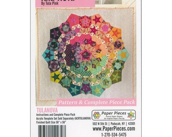 Tula Nova Pattern and Complete pieces Pack - English paper piecing - Tula Pink