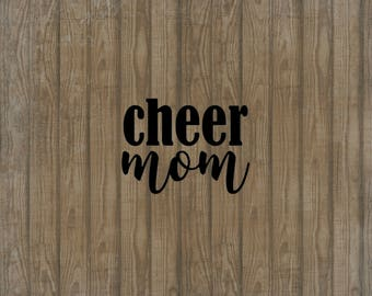 Cheer Mom Decal, Car Decal, Window Decal, Cheer Mom Sticker, Cheer Sticker, Cheer Car Decal, Cheer Mom Car Decal, Gift for Cheer Mom