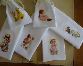 set of 6 bags to fill (gift or lavender) with transfer