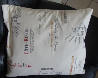 cover cousin cover lined with ecru printed great crus wines