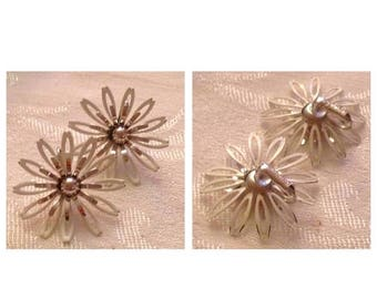 On Sale Cool Vintage White Flower Earrings