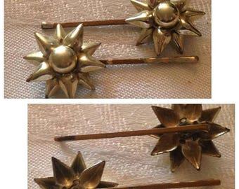 On Sale Vintage Goldtone Star BobbiePins