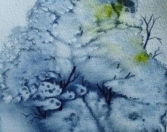 Clump of trees - original watercolor painting