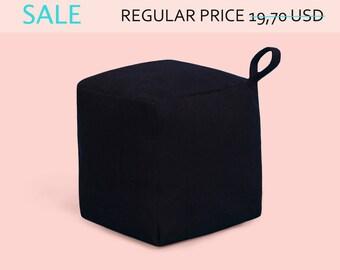 SALE! Laconic cube doorstop|Fabric Doorstop|Doorstop for light doors|Doorstopper|Black door stop