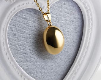 Harmony Ball BEAU 25mm Gold Bola Ball Pendant & Necklace - Pregnancy Maternity Mexican Angel Caller Mum to Be