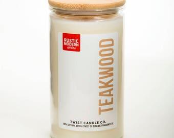Teakwood 18oz Soy Wax Candle