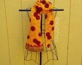 Crochet Pepperoni Pizza Scarf