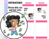 Pandora - Pay Day Stickers, Money Stickers, Pay Stickers, Kawaii Stickers, Character Stickers, Hand drawn Stickers