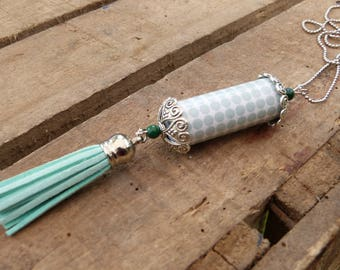 Polka dots paper Bead Necklace