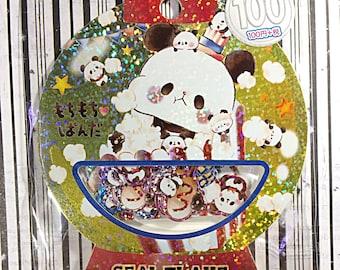 Mochi Panda Popcorn sticker sack - kawaii sticker sack - Kamio - sticker flakes - panda