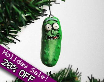 Pickle Rick Ornament, Rick and Morty Chirstmas