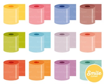 Toilet Paper Clipart Illustration for Commercial Use | 0560