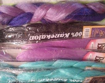 """6 Packs - Kanekalon Braiding Hair - 23"""" to 40""""+ - Coordinated Colors"""
