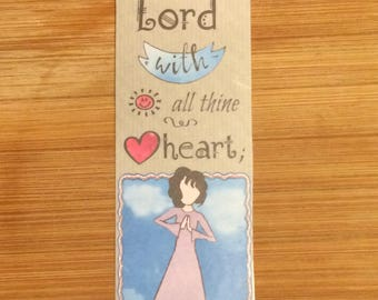 Bible Verse Bookmark - Proverbs 3:5a - handmade WITHOUT tassel (stock #2) trust in the Lord